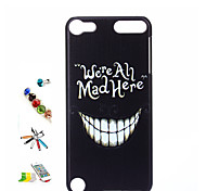 Tooth Pattern Painted PC Shell And Touch Pen Dust Plug Bracket Combination for iPod Touch 5