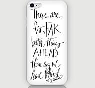 patrón de la letra Inglés trasera para el iPhone 6