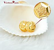 WesternRain Women 2015 New Coming 24K Gold Stud Earrings Women Fashion Cheap Lovely Heart Gold Plated Earrings