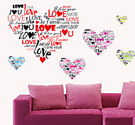 Romantic I LOVE YOU HeartLetters PVC Wall Stickers Wall Art Decals