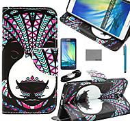estojo de couro pu Coco fun® panda padrão tribal com filme e cabo USB e caneta para samsung galaxy a7