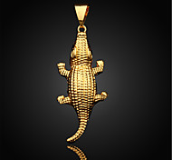 Vilam® Figaro Cute Lifelike Crocodile 18K Gold Plated CC Color Uneasy Fade Pendant 1pc