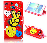 Lovely Fingers Pattern PU Leather Case with Stand for Samsung Galaxy A5