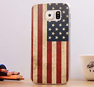 The American Flag Pattern 3D Relievo Hard Case Cover for Samsung Galaxy S6