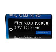 2200mah batería de la cámara para DB50 ricoh kodak KLIC-8000