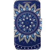 kinston® blauen und weißen Porzellan Muster Ganzkörper-PU-Abdeckung mit Standplatz für htc eins M7 / M8 / M9 und HTC Desire 816/826 /