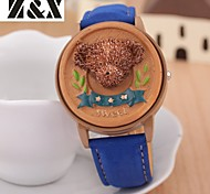 Children's Lovely Little Bear Flip Quartz Analog Leather Bracelet Watch(Assorted Colors)