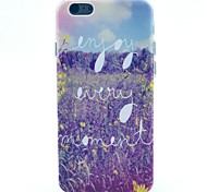 Lavender Pattern TPU Material Phone Case for iPhone 5C