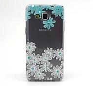 con flores de color azul modelo pintura alivio 0,2 delgado TPU Shell protector para samsung galaxy grand g530 prime