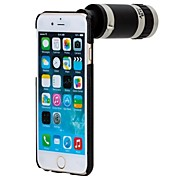 Apexel 8X Optical Zoom Mobile Phone Telephoto Telescope Camera Lens with Cell Phone Black Back Case for iPhone 6 Plus