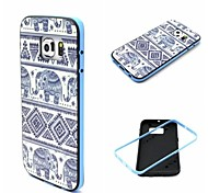 Elephant Pattern TPU Back Cover with PC Bumper Shockproof Soft Case for Samsung Galaxy S6Edge