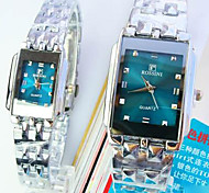 Couple's New Square Green Dial Fashion Quartz Watches Cool Watches Unique Watches