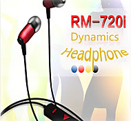 REMAX® Dynamic 720i Ear Wire Headphone Earphone Headset for iPhone 6/6plus/5/5S/4/4S SAMSUNG HTC LG Sony Color Random