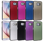 Metal Wire Drawing Grain Back Cover Back Cover for Samsung Galaxy S6 Edge(Assorted Colors)
