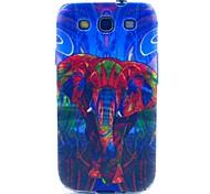 rêver l'étui souple éléphant TPU pour les Samsung Galaxy S i9300
