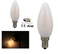 ONDENN E14 4 W 4 COB 400 LM 2800-3200K K Warm White A Dimmable Candle Bulbs AC 220-240 V
