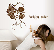 Fashion Beauty Leader PVC Wall Stickers Wall Art Decals