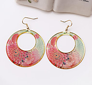 Fashion Hand Painted Totem Alloy Drop Earrings