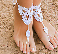 Crochet Barefoot Sandals,Beach Pool Wear,Sexy Accessories, Fashion Accessory,Toe Ring Anklet, Ankle Bracelet(1Pair)