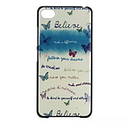 Butterfly Pattern PC Hard Back Cover Case for Lenovo S90
