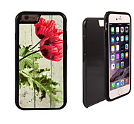 rosa fioritura modello 2 in 1 ibrido armatura caso sottile di tutto il corpo a doppio strato di shock-protezione per il iphone 6