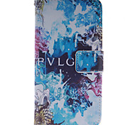 Blue Beautiful Design PU Leather Stand Case with Card Slot for Wiko Getaway