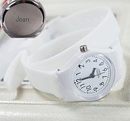 Personalized Gift Women's Casual Watch Steel Strap Engraved Watch