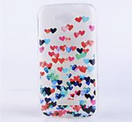 colorato modello di cuore in rilievo tpu coperture del telefono materiale verniciato trasparente per Alcatel One Touch pop c7