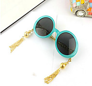 Sunglasses Women's Fashion Round Black / White / Blue Sunglasses Full-Rim