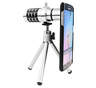 Apexel 12X Telephoto Manual Focus Camera Lens with Tripod and Back Case Cover for Samsung Galaxy S6 / S6 Edge
