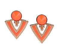 D22544 Bohemian Inverted Triangle Pattern Drop Earrings Dangle Stud Earrings for Women (Assorted Colors)