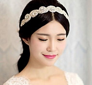 Handmade Elegant Crystal Rhinestone  Wedding/Party Headpieces/Forehead (Length:130cm)