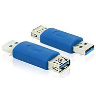 usb 3.0 Tipo de um macho para USB 3.0 tipo um adaptador azul conversor de conector fêmea