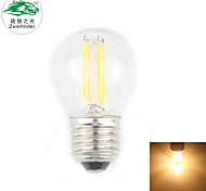 Zweihnder E27 4W 380LM 3000-3500K 4xLED Warm Light Tungsten Filament Lamp (new products,AC 220-240V,1Pcs)