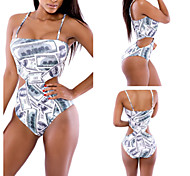 Printing Dollars Sexy Swimsuit With a Chest Pad Whitout Steel Ring