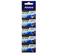 ALKALINE AG1/LR621/364/SR621SW/164 High Capacity Button  Batteries (10PCS)