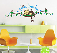Sweet Dream Cartoon Monkey Wall Stickers For Kids Room Home Decorations Zooyoo1203 Diy Bedroom Decal Mural Art