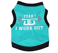 Lovely I Work Out Pattern Vest for Pets Dogs (Assorted Colors and Sizes)