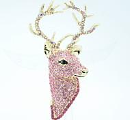 juerguista ciervos broche pines brocha joyería del rhinestone de las mujeres