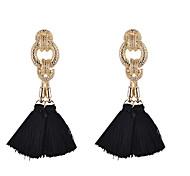 Fashion Women  Fabric Tassel Drop Earrings