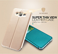 KALAIDENG Sun Series Super Thin View Leather Case for Galaxy E7