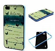 Make A Difference with Believe Pattern Plastic/TPU 2 in 1 Design Back Cover Case for Huawei Honor 6