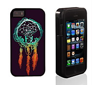Girl and Boy in the Dream Catch Pattern 2 in 1 Hybrid Armor Full-Body Dual Layer Shock-Protector Slim Case for 5/5S