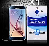Protector de pantalla de alta definición con polvo absorbente para el borde samsung galaxy s6 (PC 1)