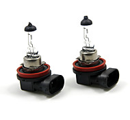 TIROL 2pcs Auto Headlight Bulbs Headlamp Bulbs Halogen H11 12V 100W Super White 3000K