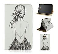geschilderde pu tablet case voor Samsung Galaxy Tab 3 lite t110