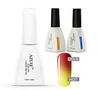 Azure 3 Pcs/Lot Soak Off UV Nail Gel Polish Color Changing  Gel Manicure Nail Art Gel(#18+BASE+TOP)