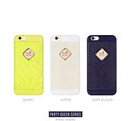 luxuxy de alta calidad de la serie reina del partido placa de metal para el iphone 6
