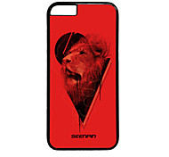 SEENPIN Personalized Design Creative Arts Red And Black Lion For Iphone6 4.7Inches Case 2D PC Hard Black