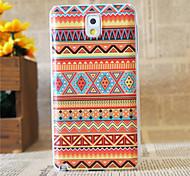 naranja patrón plástico étnica cubierta de la caja trasera dura para Samsung N9000 Galaxy Nota 3